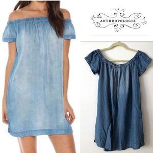 Cloth & stone off shoulder dress L nwot